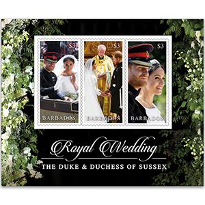 2018 Barbados Royal Wedding 3 x $3 M/S