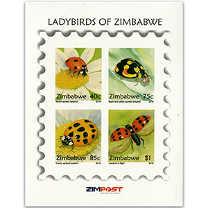 2018 Zimbabwe Lady Birds Imperforate M/S