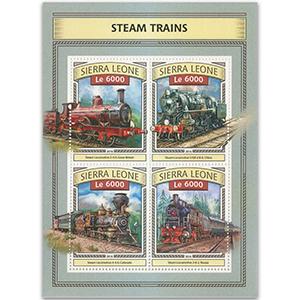 2016 Sierra Leone Steam Trains 4v Shlt