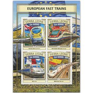2016 Sierra Leone European Fast Trains 4v Shlt