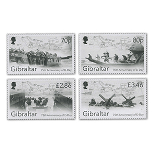 2019 Gibraltar 75th Anniversary of D Day Landings 4v Set