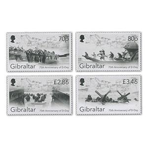 2019 Gibraltar 75th Anniversary of D Day Landings 4v Set