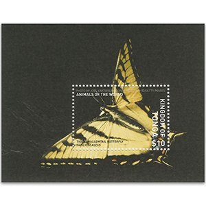 2019 Tonga Animals of World Butterfly Tiger Swallowtail M/S