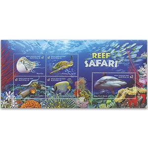 Autralia-Reef Safari 5v M/S 1/8/18
