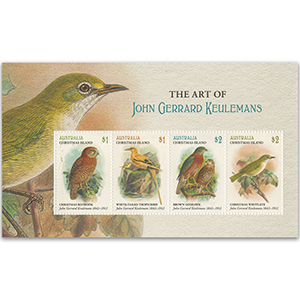Xmas Island Bird Paintings John Gerrard Keulemans 4v M/S