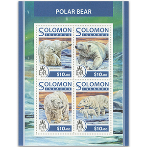 2017 Solomon Islands Polar Bears 4v Shlt