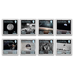 2019 Isle of Man Apollo 11 50th 'One Small Step' 8v Set