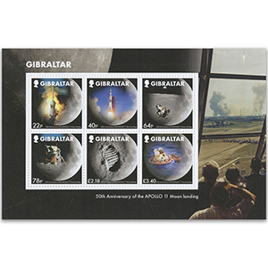 Gibraltar 2019 50th Moon landing 6v Sheet