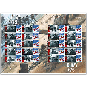 Jersey D-Day +75 Commemorative Sheet
