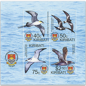 Kiribati 2019 40th Ann.Ind.Birds of Kiribati 4v M/S