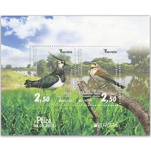 Bosnia Europa 2019 - Birds 2v M/S (Lapwing)