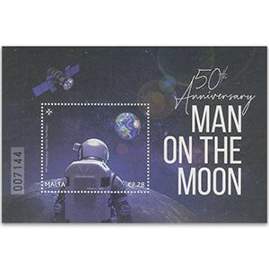 Malta 2019 50th Man on the Moon landing 1v M/S