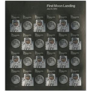 2019 USA 1st Moon Landing 50th 12 x 2v S/A Shlt