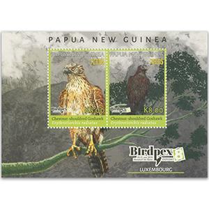 2018 Papua Rare Birds II Birdpex 8 2v M/S