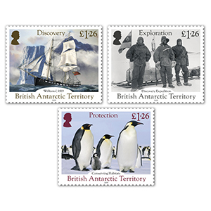 2019 B.A.T 200th Discovery Antarctica 3v set