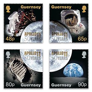 2019 Guernsey Moon Landing 50th Anniversary 4v