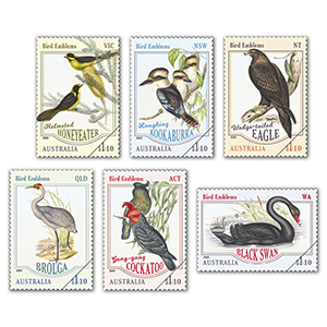 2020 Australia Bird Emblems 6v set