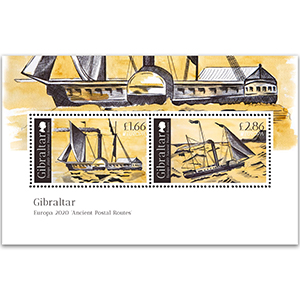 2020 Gibraltar Ancient Postal Routes 2v M/S