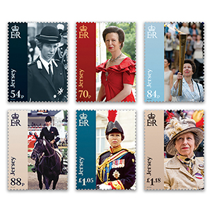 2020 Jersey HRH The Princess Royal 6v Set