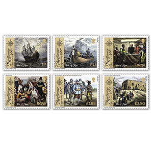 2020 I.O.M. 400th Mayflower  6v Set
