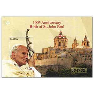Malta Birth of St.John Paul II M/S 22/10/20