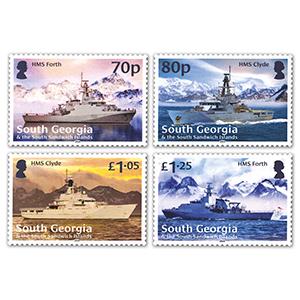 2020 South Georgia Royal Navy Ships 4v Set