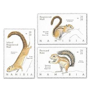 Namibia Squirrels 3v 20/2/20