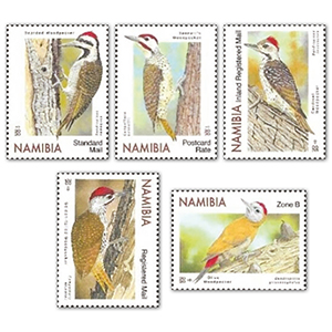 Namibia Woodpeckers 5v 2/4/20