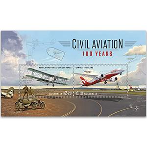 2020 Australia Civil Aviation 100 Years 2v M/S