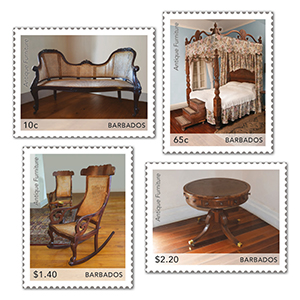 2021 Barbados Antique Furniture 4v Set