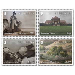 2021 St Helena Bicentenary Death of Napoleon 4v Set