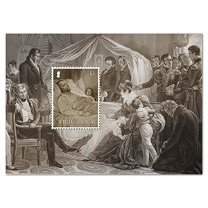 2021 St Helena Bicentenary Death of Napoleon 1v M/S