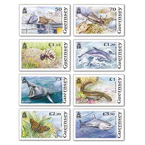 2021 Guernsey Endangered National Wildlife 8v Set