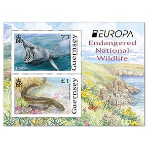 2021 Guernsey Endangered National Wildlife 2v M/S