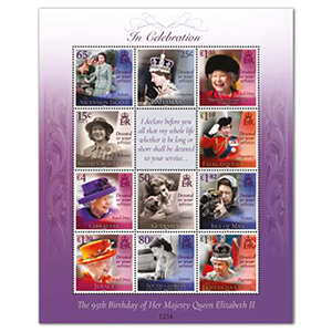 2021 Multinational 95th Birthday HM The Queen 11v Sheet
