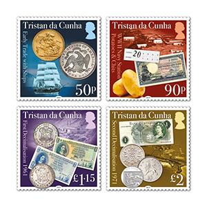 2021 Tristan da Cunha 60th & 50th Decimalisation 4v set