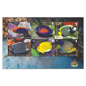 2021 B.I.O.T Angel Fish 6v Sheetlet