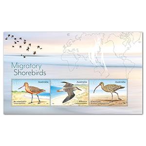 2021 Australia Migratory Shorebirds 3v M/S