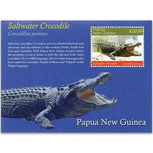 2020 Papua Saltwater Crocodiles 1v M/S
