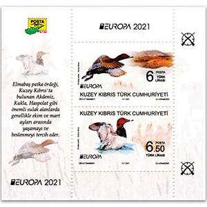 2021 Cyprus Turkish Europa Endangered Wildlife 2v M/S