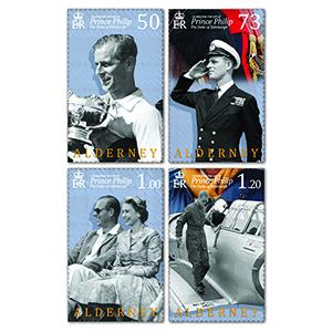 2021 Alderney Celebrating Life of Prince Philip 4v Set