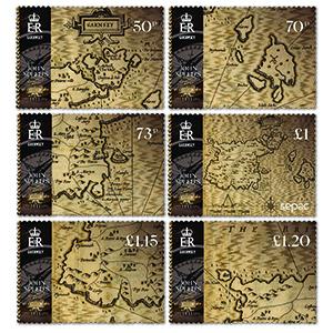 2021 Guernsey SEPAC Old Maps 6v Set