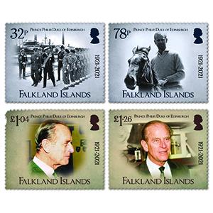2021 Falkland Is. HRH Prince Philip 4v Set