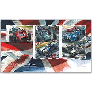 2021 Jersey History F1 Pt. 1 5v Souvenir Sheet