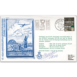 1985 Netherlands Operation 'Manna' Special - Signed Sqn. Ldr. C Anderson