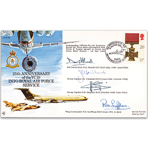 1991 VC 10 in RAF service 25th - Signed by COs No. 101 Sqn. Incl. Air Cdre, D, Hurrell AFC & Wg. Cdr