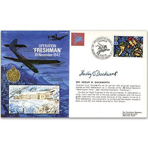 1992 RAF Operation Freshman - Signed by Corporal Hedley B. Duckworth