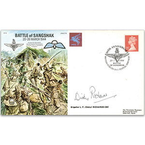 1994 Battle of Sangshak 50th - Signed by Brigadier L. F. (Dicky) Richards CBE