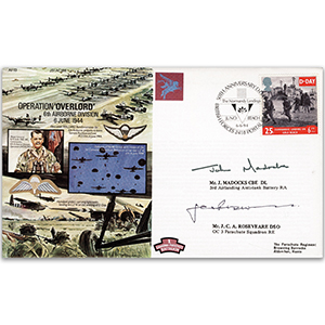 1994 D-Day 50th - 'Operation Overlord' - Signed by J. Maddocks CBE and J. Roseveare DSO