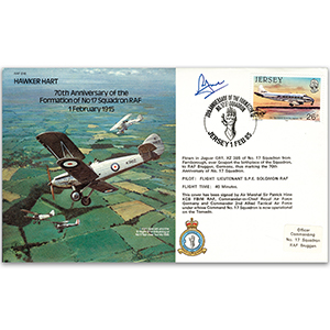 1985 No. 17 Sqn. 70th - Signed by AVM Sir Patrick Hine KCB